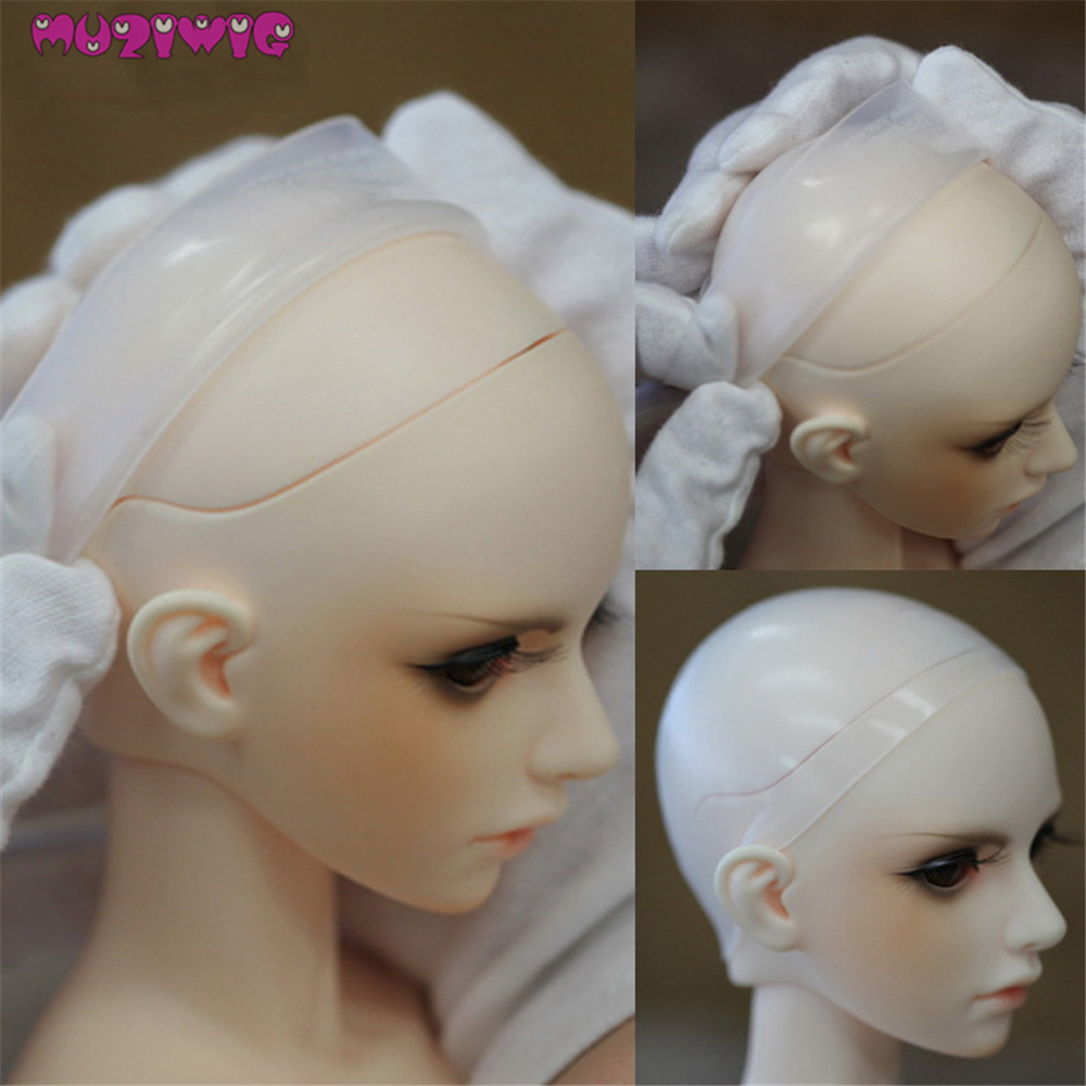 """1 pcs 3""""Silicon Wig Cap for MSD 1//12  Bjd Doll Head Protection Cover"""