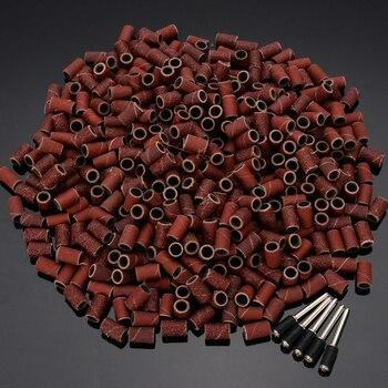"""485 шт 1/4 """"120/240/320/400/600 шлифовальные ленты барабанные рукава оправки шлифовальный электрический полировальный наждачная бумага круг песок"""