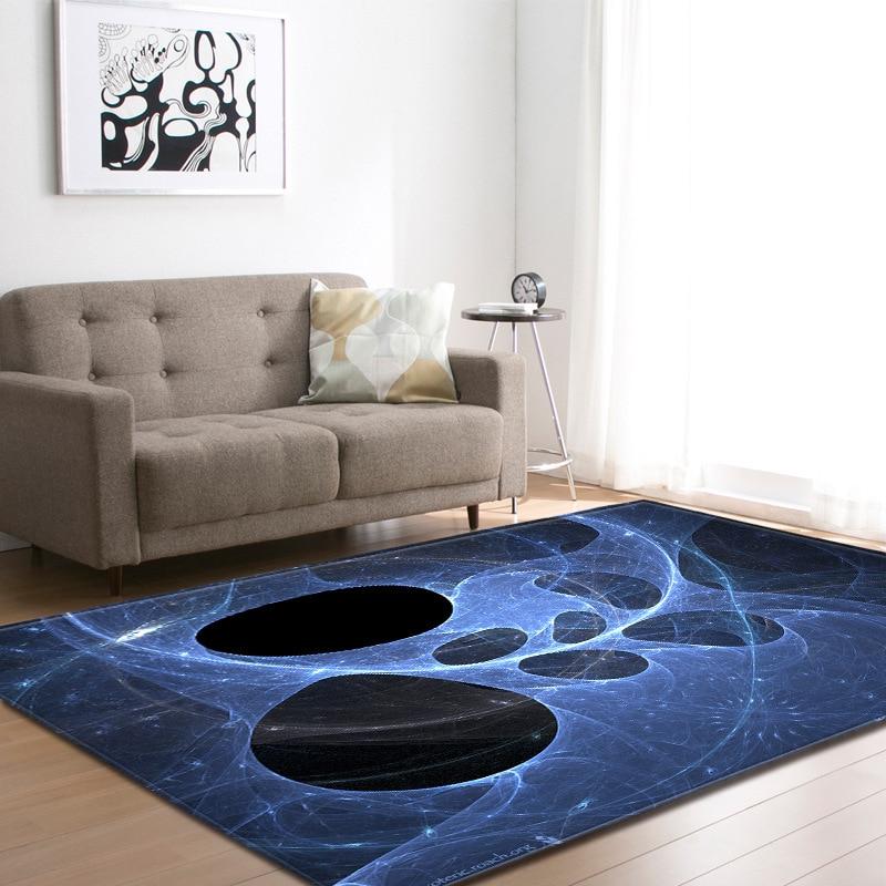 Ciel étoilé 3D impression tapis pour salon chambre tapis moderne couverture paillasson tapis de sol enfants aire de jeux tapis maison décorative