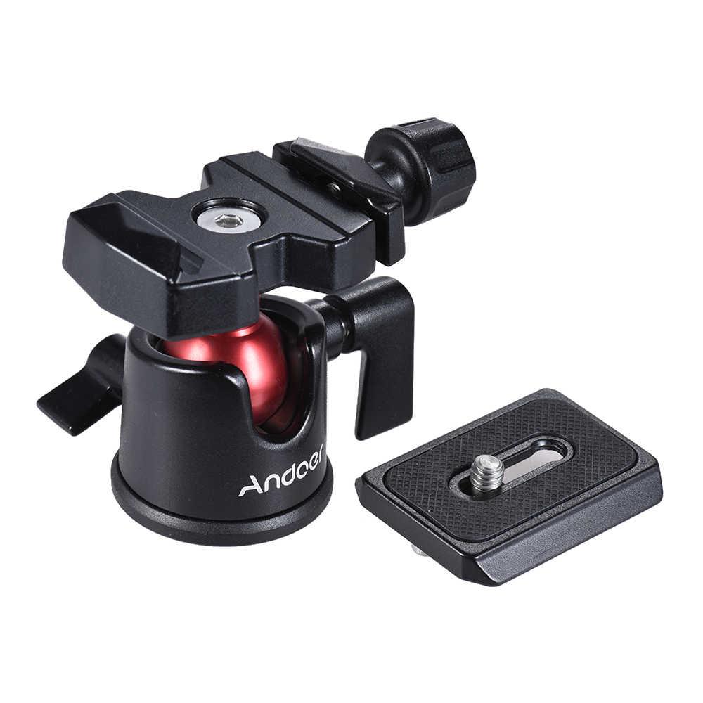 Andoer мини шаровая Головка шариковая головка Настольный штатив подставка адаптер с быстроразъемной пластиной для Nikon Sony Canon DSLR камеры видеокамеры
