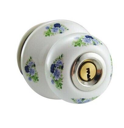 Ceramic lock the door when indoor European ball lock hold hand lock copper core S-033