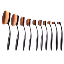 10pcs/lot Toothbrush Shaped Foundation Brush Power Makeup Oval Cream Puff Brushes Set Pinceaux Maquillage Brochas Maquillaje
