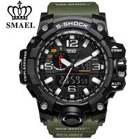 Smael brand men sports watches dual display analog digital led electronic quartz wristwatches waterproof swimming military.jpg 200x200