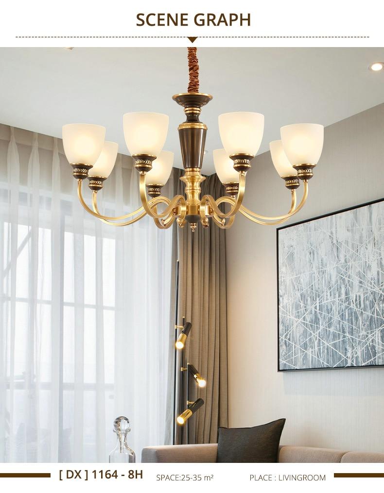 Moderne Led Kronleuchter Decke Kupfer Leuchte Hängen Lampe