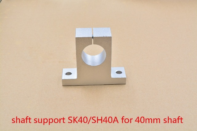 SK40 40mm bearing shaft support for 40mm rod round shaft support XYZ Table CNC router SH40A 1pcs