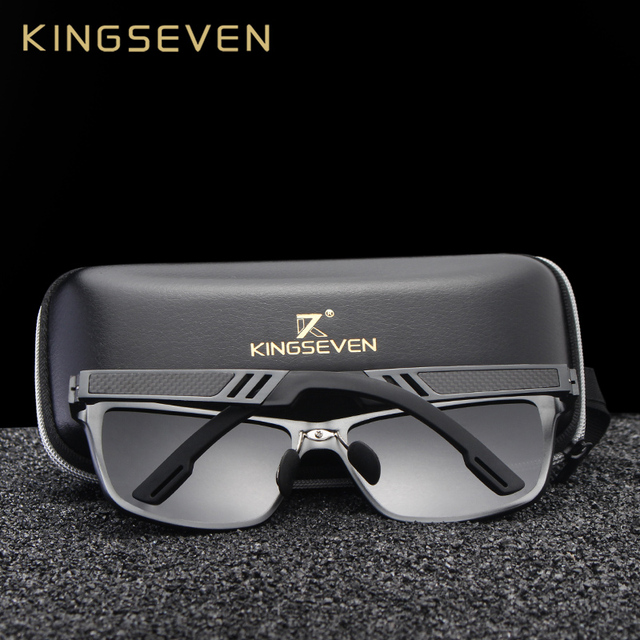 KINGSEVEN 2018 Original HD Polarized Sunglasses Brand Aluminum Magnesium Mirror Men Sport Driving Glasses Goggles Oculos De Sol 1