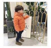 Детский пуховик Детская короткая куртка с капюшоном для маленьких мальчиков и девочек детская одежда цвет синий, черный; Большие размеры 34...