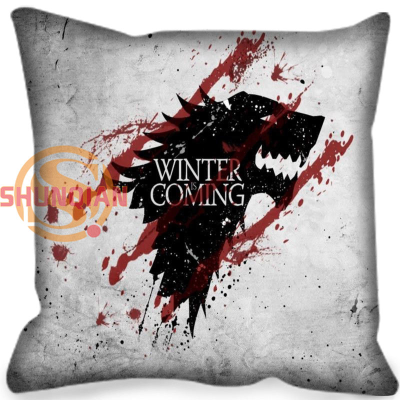 New arrival Game of Thrones Style throw Pillowcase Square Zippered Pillow Cover Custom Gift H@0209-106 image
