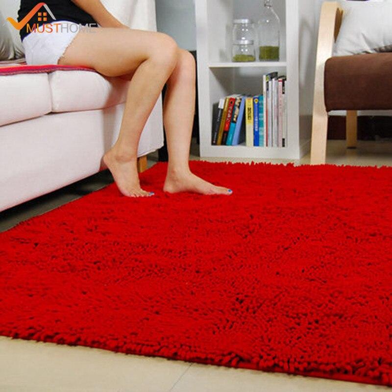 "Tapis et tapis de salon en microfibre Chenille 80x160 cm/31 ""x 63""-in Tapis from Maison & Animalerie    1"