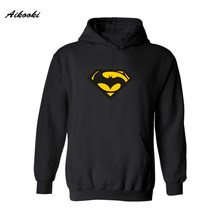 Superman VS Batman Hoodies Men/women Brand in Super Man Saiyan Mens Hoodies and Sweatshirts Funny Humor Street Couples Clothes(China)