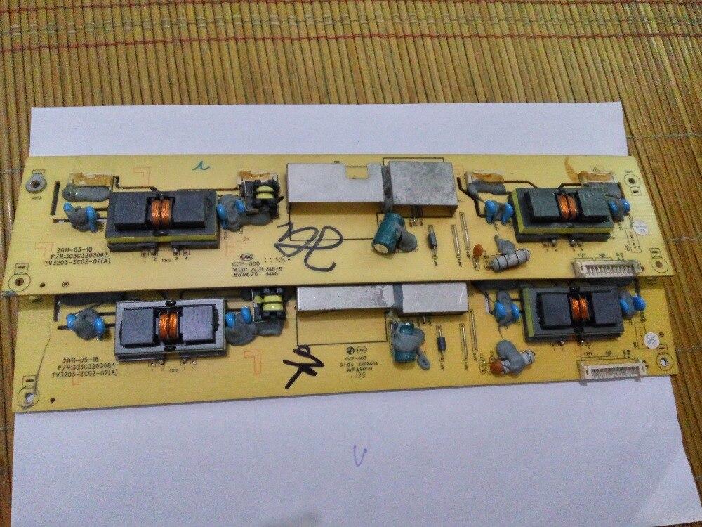 TV3203-ZC02-02(A) High Voltage T-con  Board For Connect With L32E10 LCD32R26 L32M02(05) T-CON Connect Board