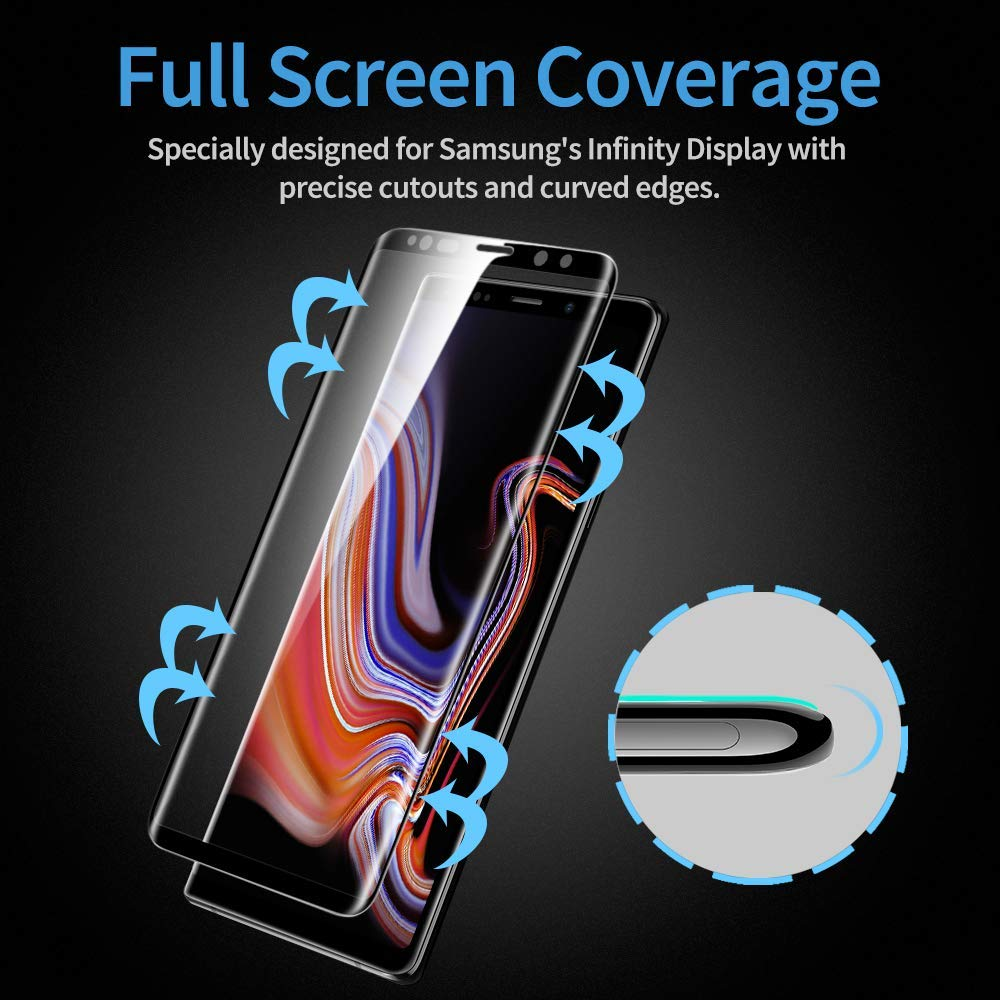 3D note 9 tempered glass on the for samsung S10 S9 S8 plus screen protector note