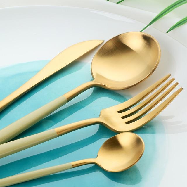 Acheteur Star couverts de table en acier inoxydable | Couverts de cuisine, vaisselle de cuisine inclus couteau fourchette cuillère robuste vaisselle de table, service dargenterie