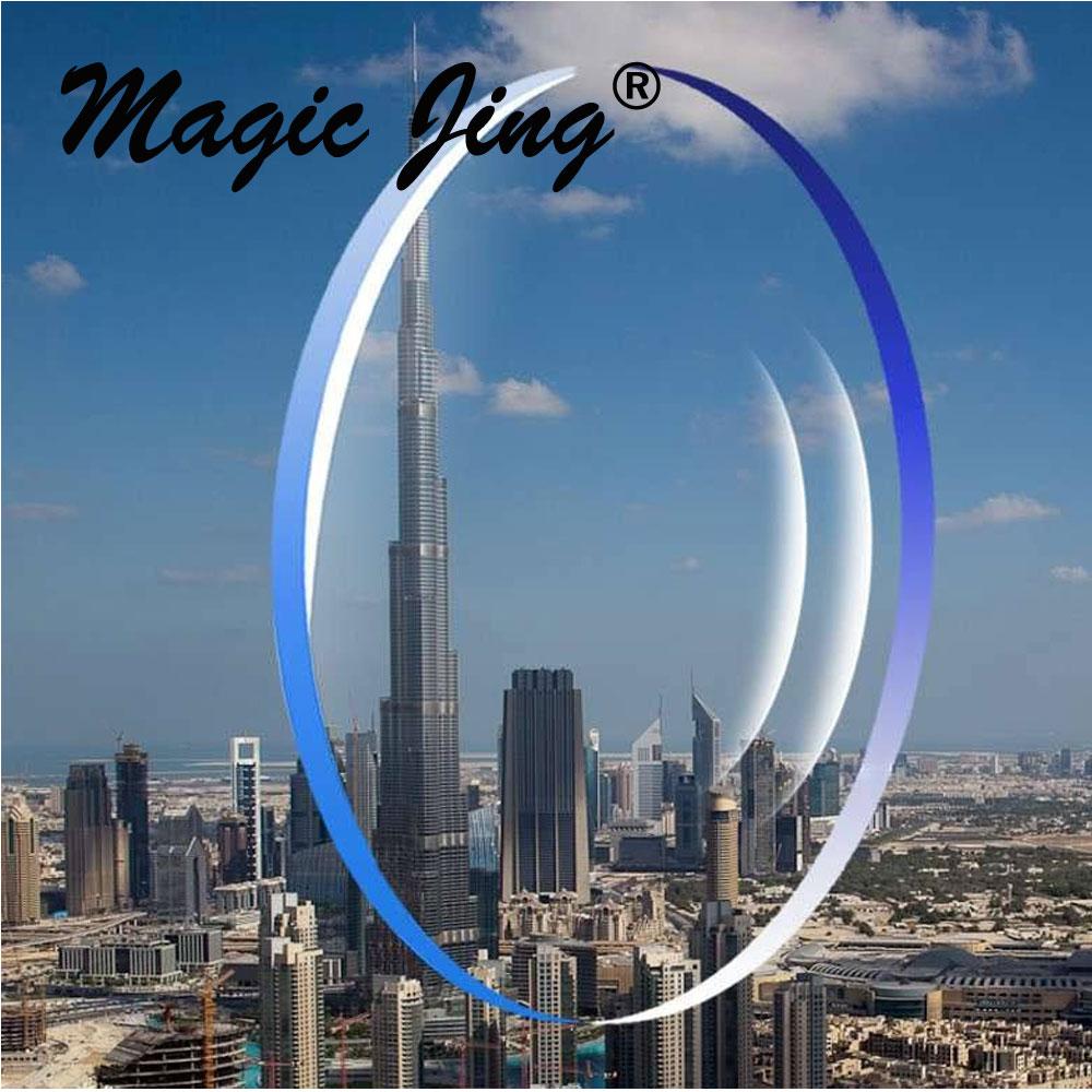 Magic jing 1.56 1.61 1.67 1.74 lente de visión única de índice con recubrimiento HC y AR hipermetropía lente RX lente de miopía lente recetada