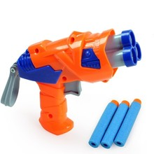 Children's Soft Bullet Toy Pistol Mini Toy Gun Handy Design Kids Toys Soft bullet Revolver Gun(China)