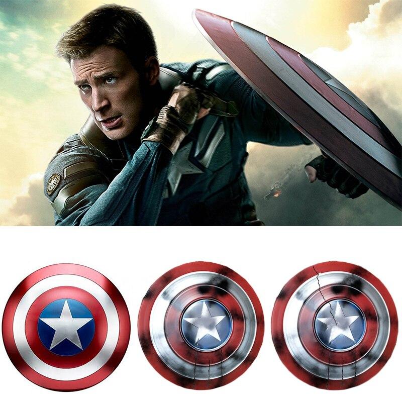 Vingadores endgame capitão américa escudo steve rogers cosplay prop super-herói metal escudo adereços festa de halloween