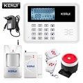 KERUI 5900G Voice Prompt GSM sistema de alarma LCD pantalla inalámbrica Sensor de puerta hogar seguridad cable sirena Kit SIM SMS alarma antirrobo