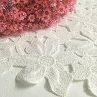 5yard/lot 45 мм ширина Кружево Ткань отделка Лента 7 лепестки цветка DIY свадебное платье одежда Интимные аксессуары вышитые Кружево ленты A2