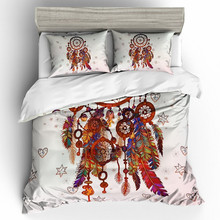 Fanaijia dream catcher Bedding Set Bohemian Print Duvet Cover set with pillowcase 3pcs Design Queen King Bed finest present bedline