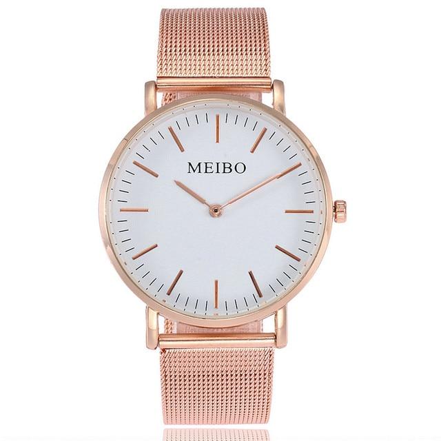 Women Watch 2018 New Fashion Simpel Design Mesh Band Analog Quartz Wrist Watch L