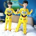 Crianças Roupas de Outono & Inverno Pijama de Manga Comprida Pijamas Para Meninas Pijamas Crianças Conjunto Terno Meninos Meninas Sleepwear Pijama Em Casa