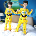 Los niños Ropa de Otoño y de Invierno Pijama Pijama de Manga Larga Para Chicas Pijamas del Juego de Los Niños Niños Niñas Ropa de Dormir Pijamas En Casa