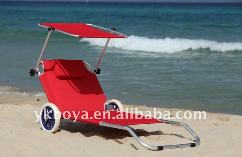 beach chair with wheels eames inspired rocking and sunshade-in chairs from furniture on aliexpress.com | alibaba ...