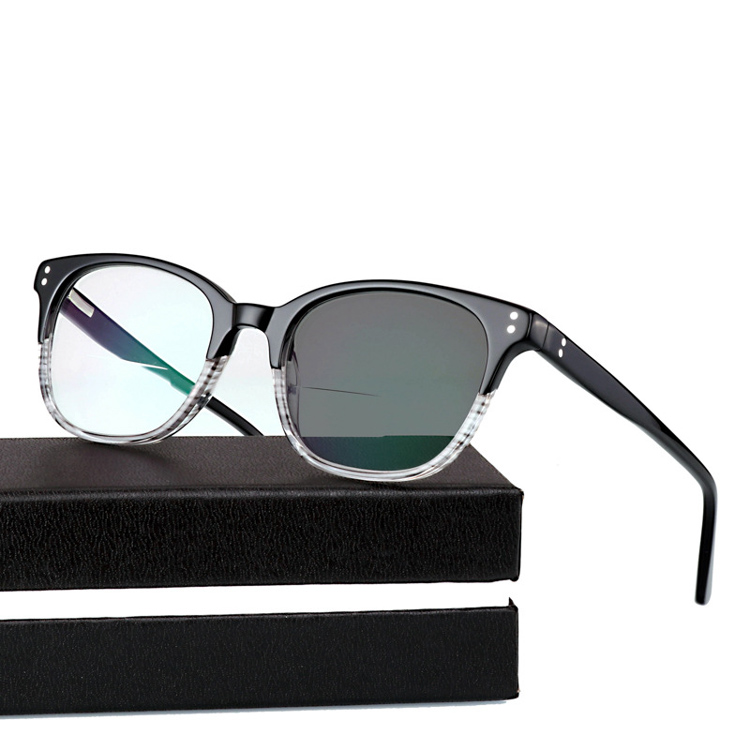 Lunettes De lecture bifocales en acétate soleil photochromique lunettes De lecture hommes femmes dioptrie verre De lecture Oculos Gafas De Lectura + 1.0 ~ + 3.0