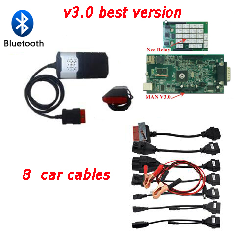 SUPER NEWS V3 0 with 8 car cables VD DS150E CDP pro plus tcs cdp obd2