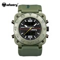INFANTRY Mens Dual Time Quartz Digital Watch Luxury Military Army Outdoor Sports Watch Relogio Masculino World Peacekeepers