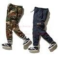 PALÁCIO Skate Calça Homens CLSC U. S. EXÉRCITO Camuflagem Militar Justin Bieber Propósito Turnê de Outono Inverno Quente FORA Calças BRANCAS