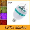 LED Bulb 16 Colors Change E27 3w RGB LED Lamp 3W AC 85-265V Auto Rotating Stage Light DJ Disco Club Party PUB CE UL