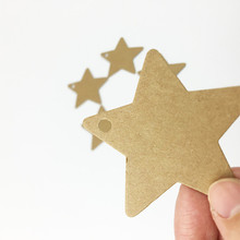 100pcs/lot Star Shaped Hand-painted  Kraft Paper Label Christmas New Year Party Card Gifts Tags Handmade Price