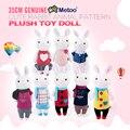35 cm genuine toys crianças coelhos tiramisu metoo recheado animais dos desenhos animados projeto bonito boneca de brinquedo de pelúcia presentes de aniversário para meninas