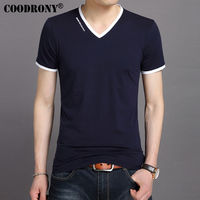 COODRONY 2017 Summer New Arrival Casual Pure Cotton Tee Shirts Short Sleeve T Shirt Men Casual