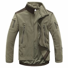 Shark Skin Stand-up Collar Outdoors Military Tactical Soft Shell Fleece Jacket Men Sportswear Thermal Cardigan Jacket