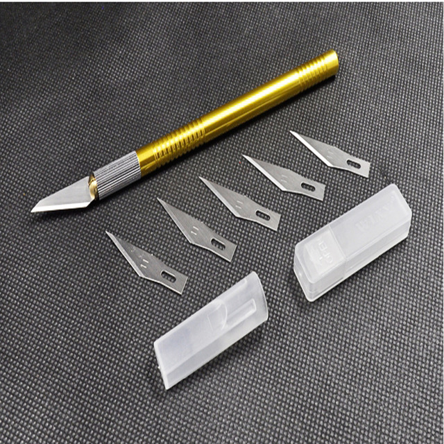 2pcs Jewery Dental Lab Ceramic Sculpturing Knife Blade Spatula Porcelain Separator Plaster Caving Tool New With 10 pcs of blade