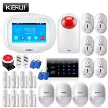 KERUI K52 GSM Wifi APP sterowania Alarma garnitury dla bezpieczeństwo w domu 4.3 Cal kolorowy ekran TFT o przekątnej bezprzewodowy włamywacz bezpieczeństwa System alarmowy