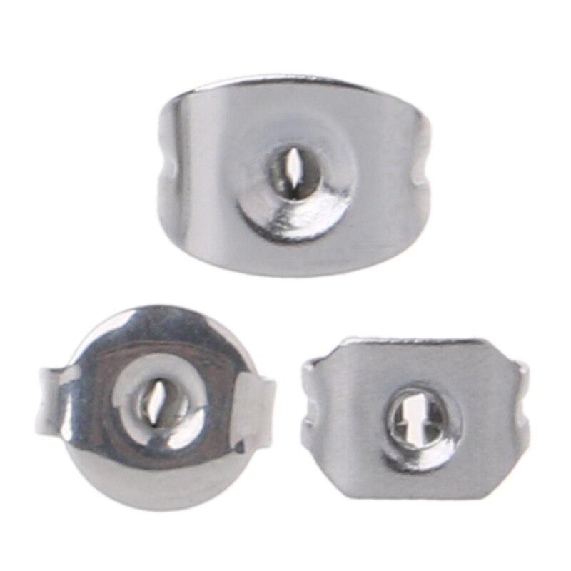 100 Stücke Schmetterling Kupplungen Chirurgische Stahl Ersatz Ohrring Rücken Splitter Ton