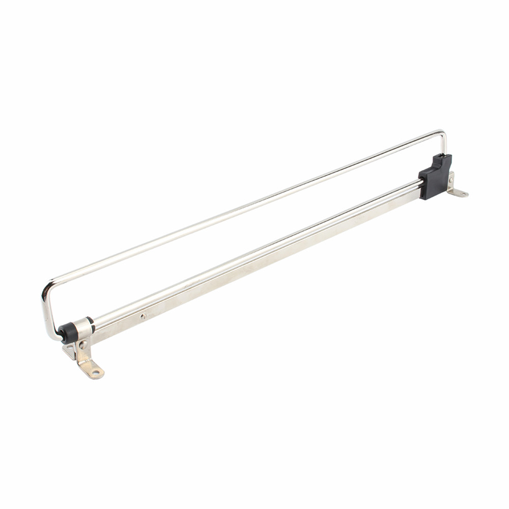 W 1Pcs Pull Out Extending Towel Retractable Wardrobe Clothes Rail Towel Chrome Coat Rack 25 50cm