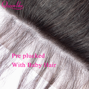 Image 5 - Queenlike Body Wave 6x6 Closure Pre Plucked With Baby Hair Natural Hairline Brazilian Remy Hair Big Lace Size Swiss Lace Closure