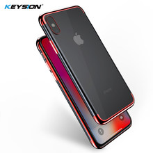 Funda de TPU suave KEYSION para iPhone XS Max Ultra fina transparente brillante para iPhone XS XR X mezclado funda de silicona(China)