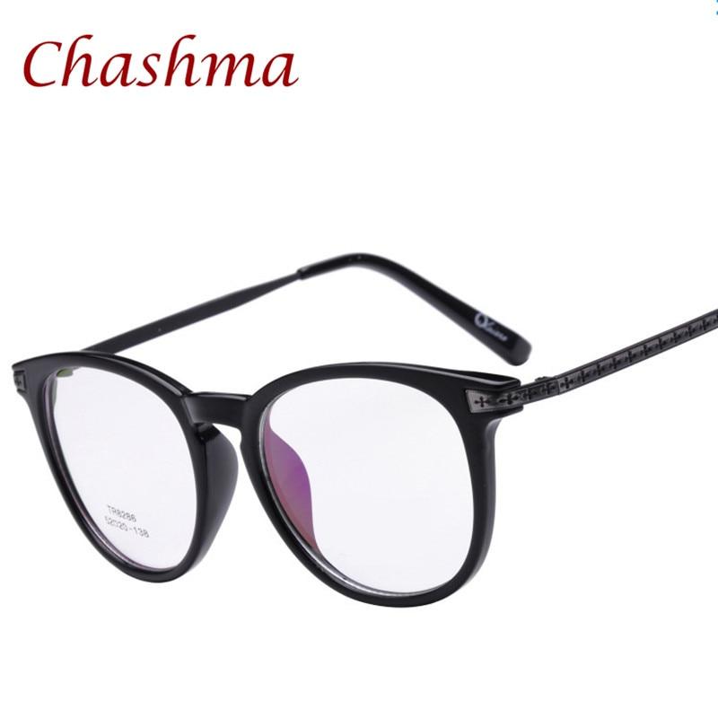 Chashma Nova Marca Full Frame Homens Óculos De Miopia Armações de Óculos  TR90 Frame do Estilo Da Liga Templo de Óculos Retro Das Mulheres 566f8f895f