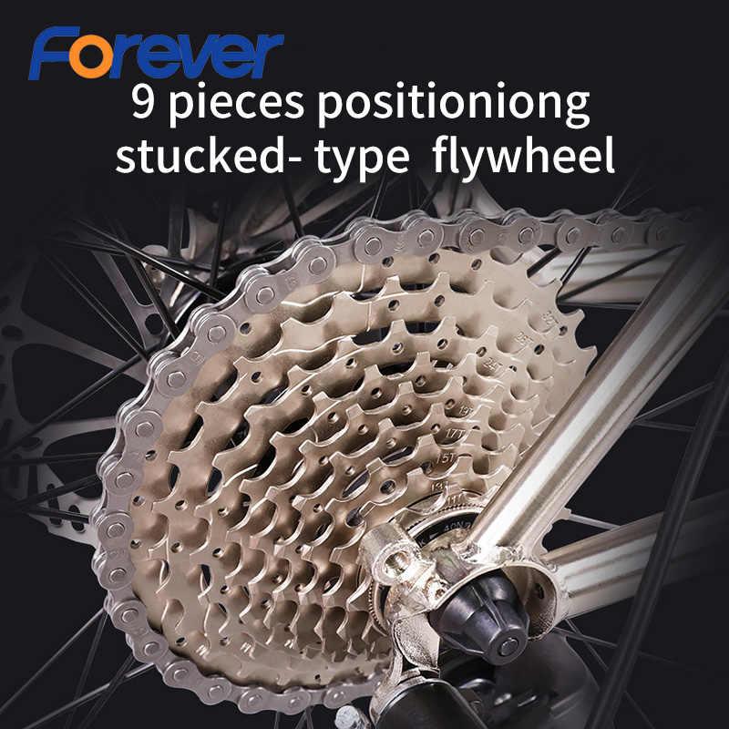 FOREVER горный велосипед 27,5 дюйма хром-молибденовая сталь дорожный велосипед двойной дисковый тормоз легкий позиционирование маховик MTB 27 скоростей