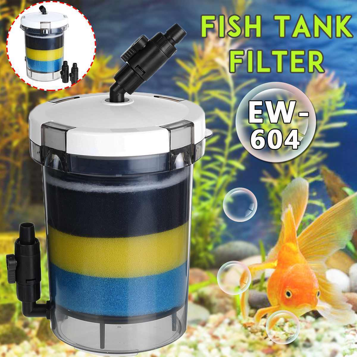 800L/H Filter Aquarium Ikan Tangki Filter untuk Aquarium Pompa Udara 220-240V EW-604 EW-604B Eksternal Akuarium filter Ember
