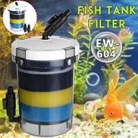 800L/h Aquarium Filter Fish Tank Filter For Aquarium Air Pump 220 240V EW 604 EW 604B External Aquarium Filter Bucket