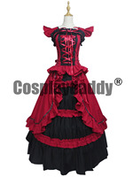Victorian Period Gothic Period Dress Prom Ball Gown Reenactment Clothing Theatre Wear V001