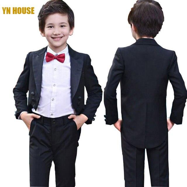 Online Shop Boys Suits For Weddings 95CM-165CM Kids Prom Suits ...