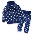 LittleSpring queda outono roupa das crianças set manga comprida engrosse velvet top roupas calças compridas roupa dos miúdos zopper terno do esporte