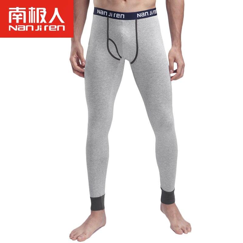 2019 Hommes Coton Doux Confortable Long Johns Extensible Termica Homem Pantalon Ligne Chaud Thermique Sous-Vêtements Creux Pantalon